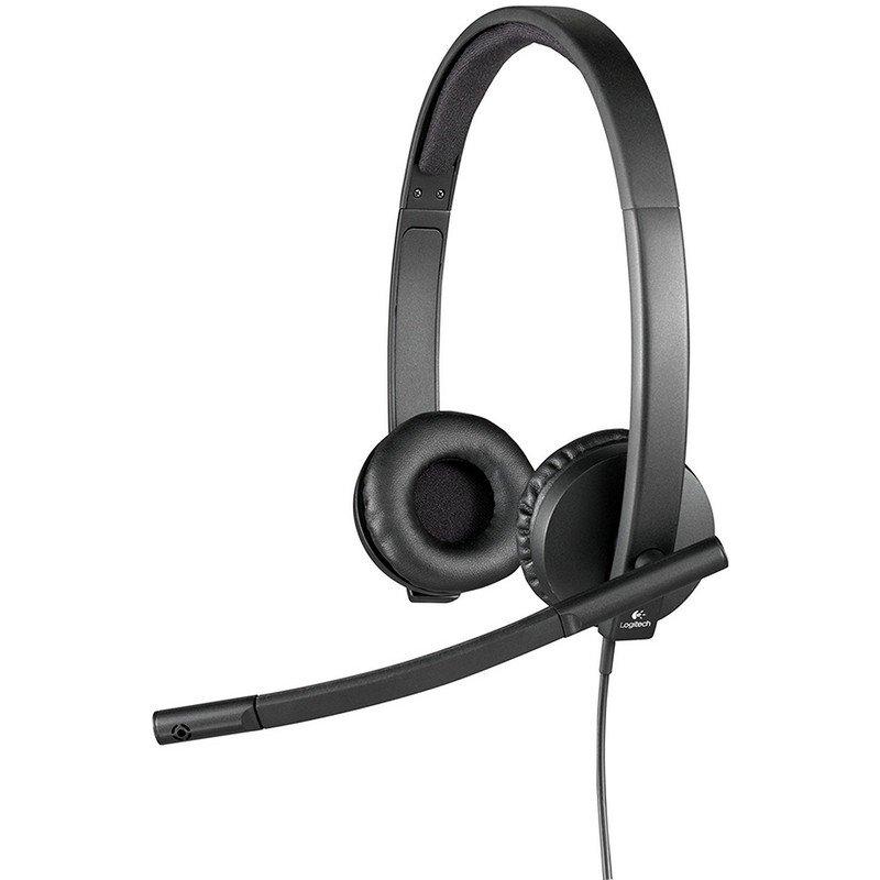 Auricular con Micrófono Logitech H570E Negro