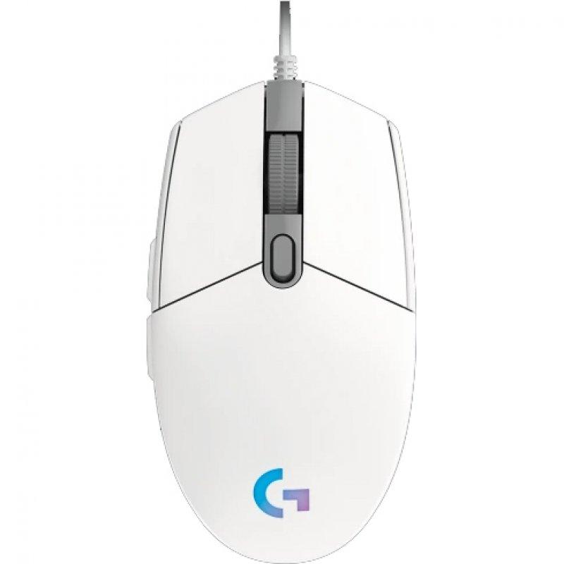 Ratón Gaming Logitech G203 Lightsync 2nd Gen 8000DPI Blanco