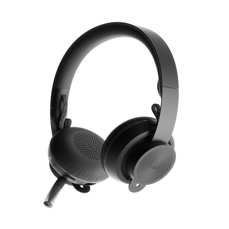 Auriculares Inalámbricos con Micrófono Logitech Zone Wireless UC Negro