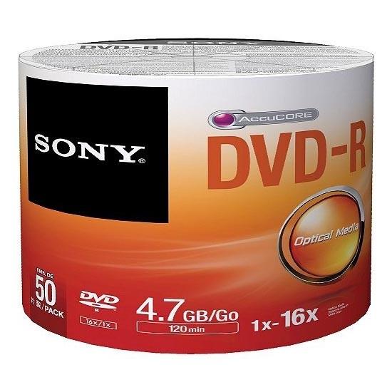 DVD-R 16x SONY 4.7GB Bobina 50 uds - 50DMR47SB