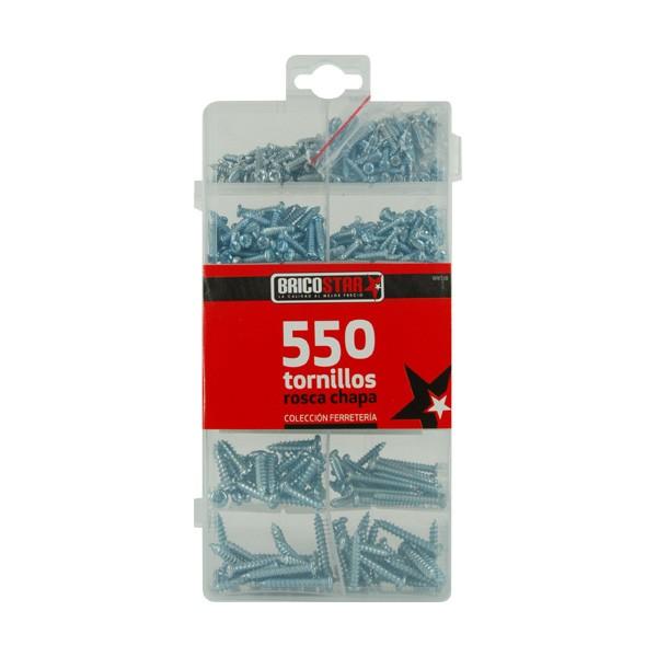 Caja con 550 Tornillos Rosca Chapa