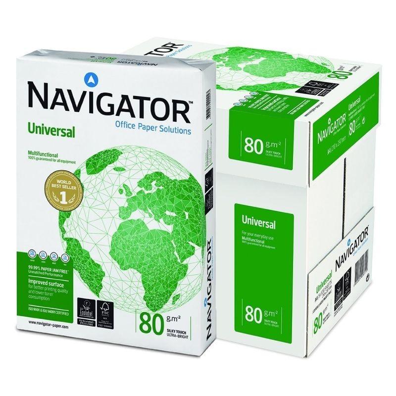 Pack Papel Blanco Navigator Universal DIN-A4 80g pack 500 pcs - 5 Unidades