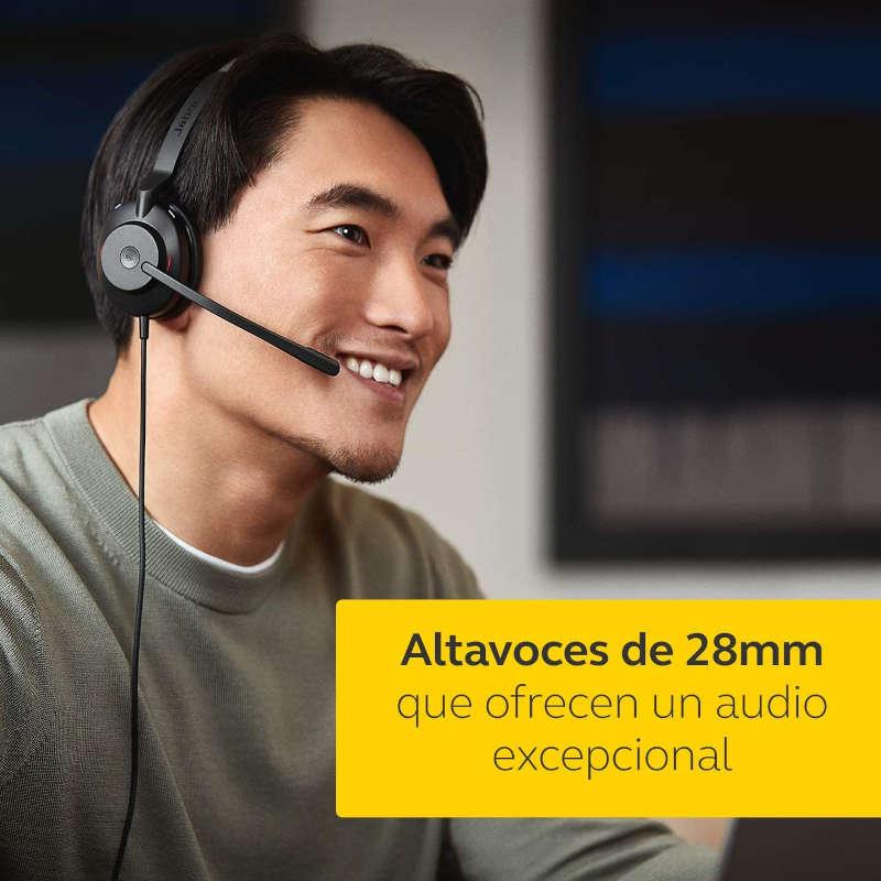 Auricular con Micrófono Jabra Evolve2 30 UC Stereo USB-A Negro