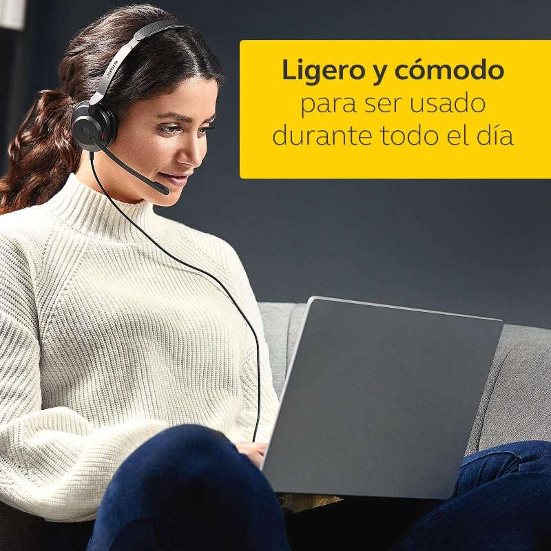 Auricular con Micrófono Jabra Evolve2 30 MS Mono USB-A Negro