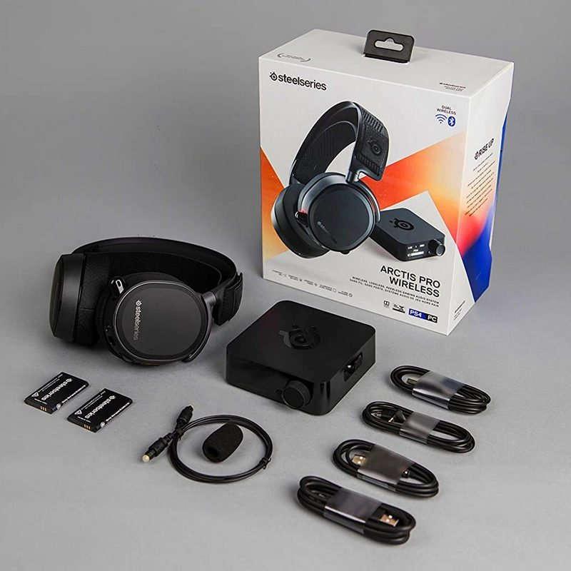 Auriculares con Micrófono Inalámbricos Steelseries Arctis Pro Negro