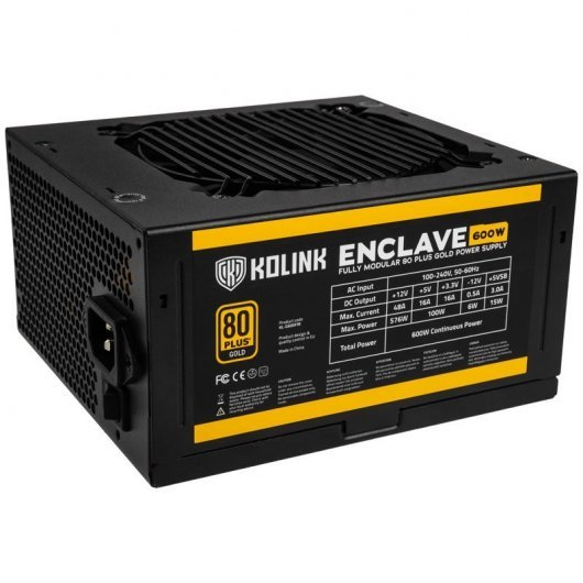 Fuente de Alimentación Kolink Enclave 600W 80 Plus Gold Modular
