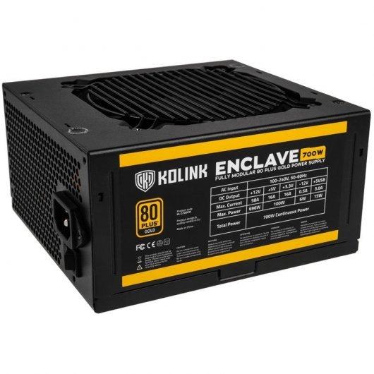 Fuente de Alimentación Modular Kolink Enclave 700W 80 Plus Gold 5999094002432