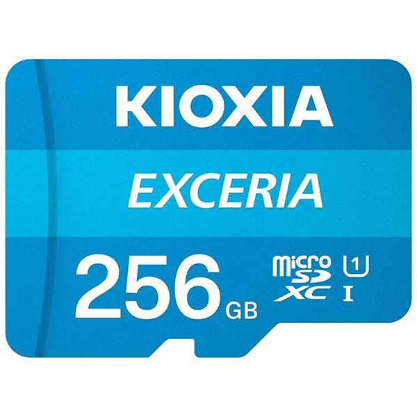 Tarjeta MicroSDXC 256GB Clase 10 UHS-I Kioxia Exceria c/Adaptador