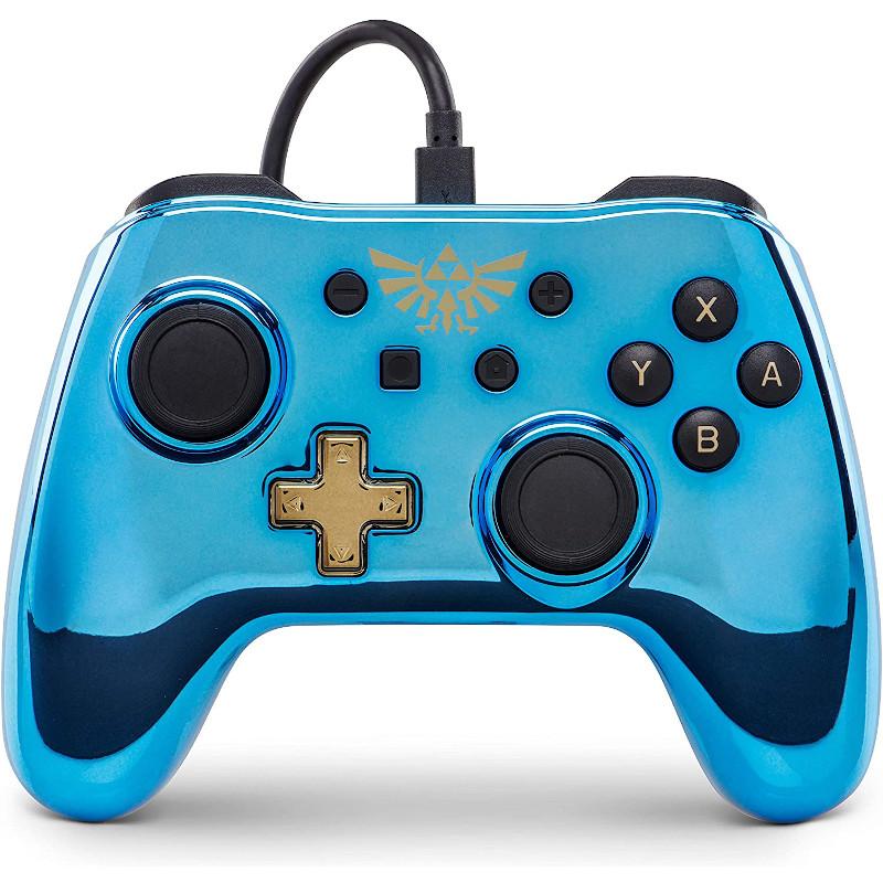 Mando PowerA Zelda Link para Nintendo Switch con cable micro-USB
