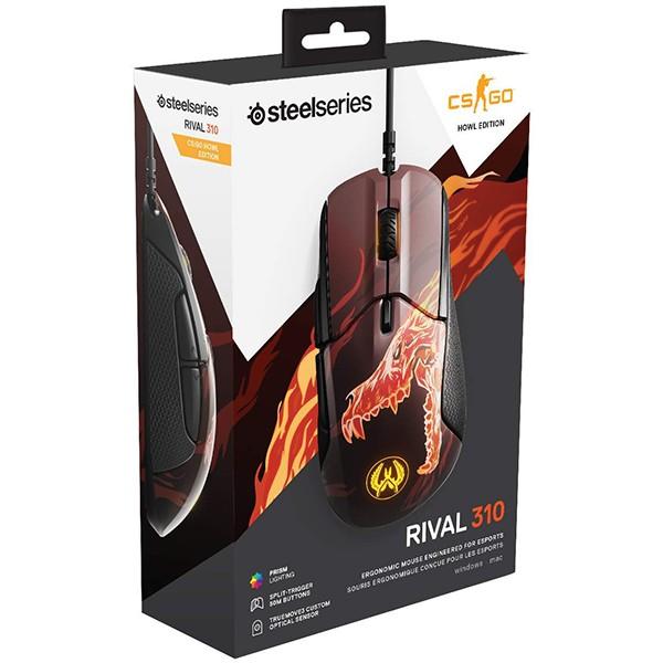 Ratón Óptico SteelSeries Rival 310 CS:GO Howl 12000 DPI