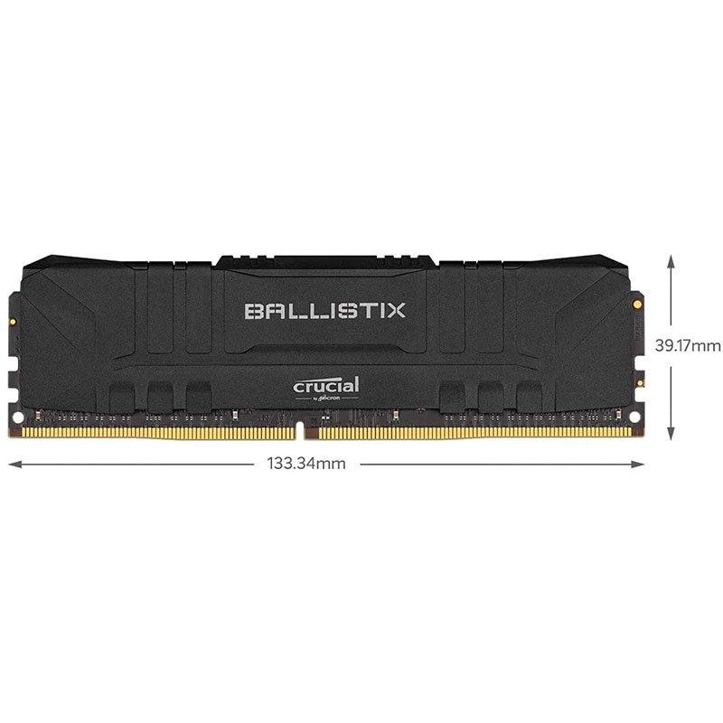 Memoria RAM Crucial Ballistix BL8G32C16U4B 8GB DDR4 3200MHz, Negro