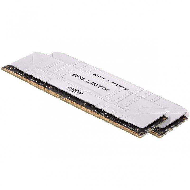 Memoria RAM Crucial Ballistix 16GB (2x8GB) DDR4-2666 CL16 Blanco