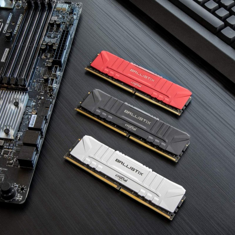 Memoria RAM Crucial Ballistix 16GB (2x8GB) DDR4-3200MHz PC4-25600 CL16 Blanca
