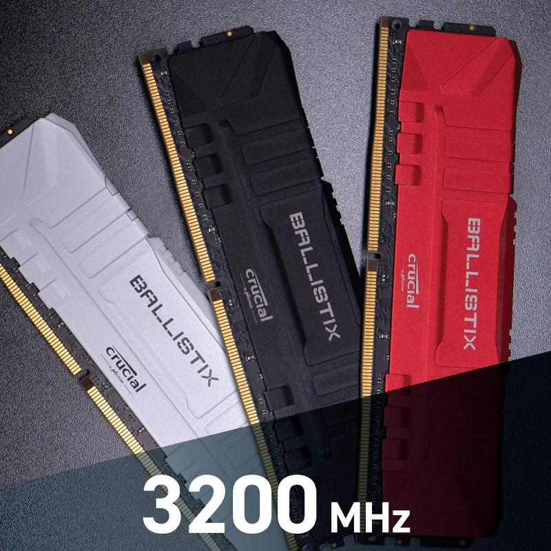 Memoria RAM Crucial Ballistix 16GB (2x8GB) DDR4-3200MHz Rojo