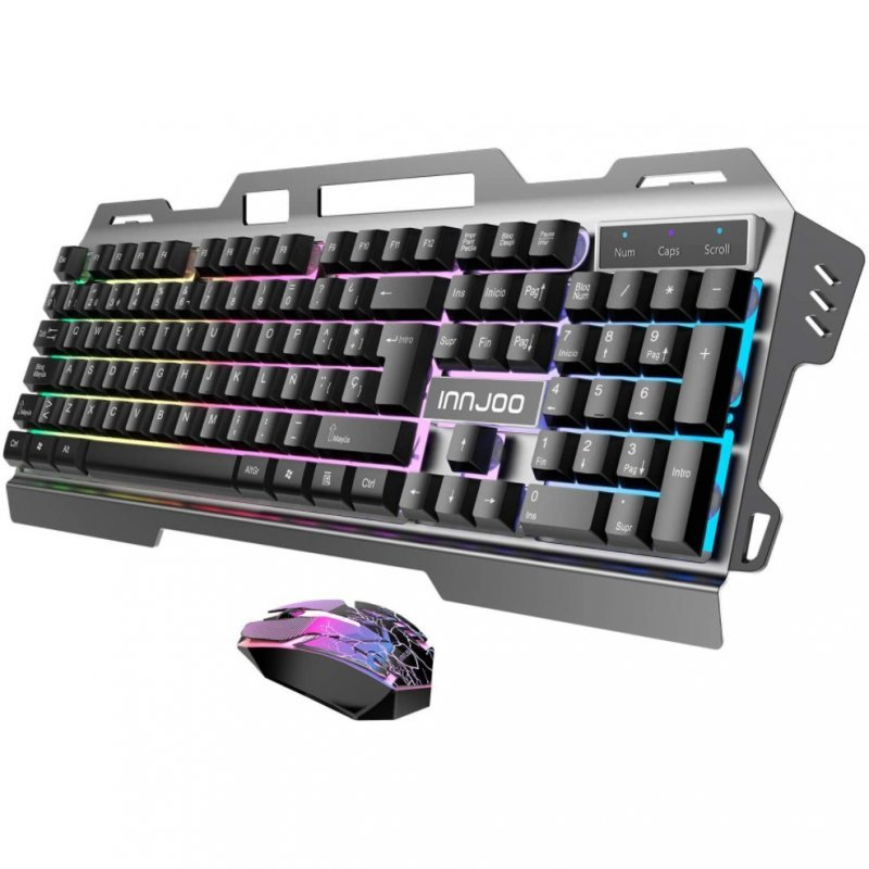 Kit Gaming Teclado + Ratón Innjoo IJ-SET GAMING BK