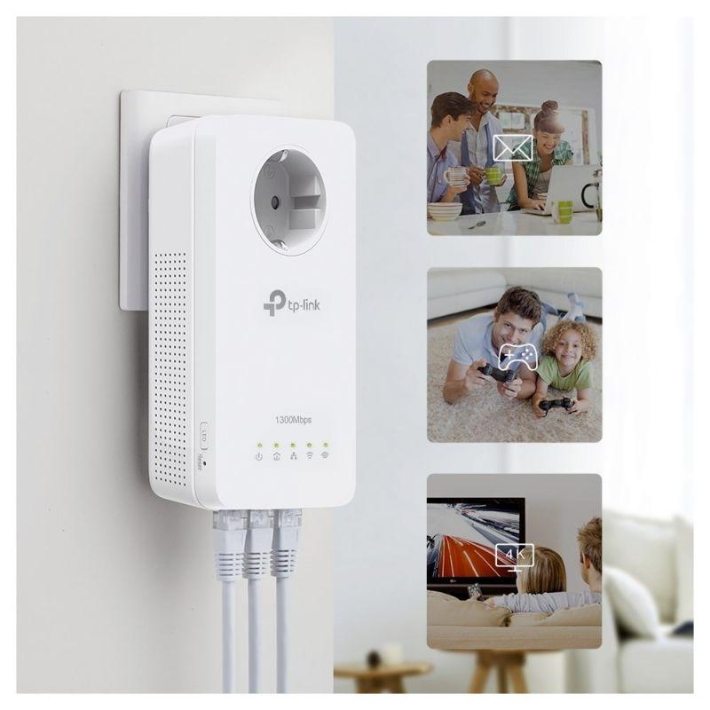 TP-Link TL-WPA8631P Kit de Adaptadores Powerline WiFi AC1200 Gigabit