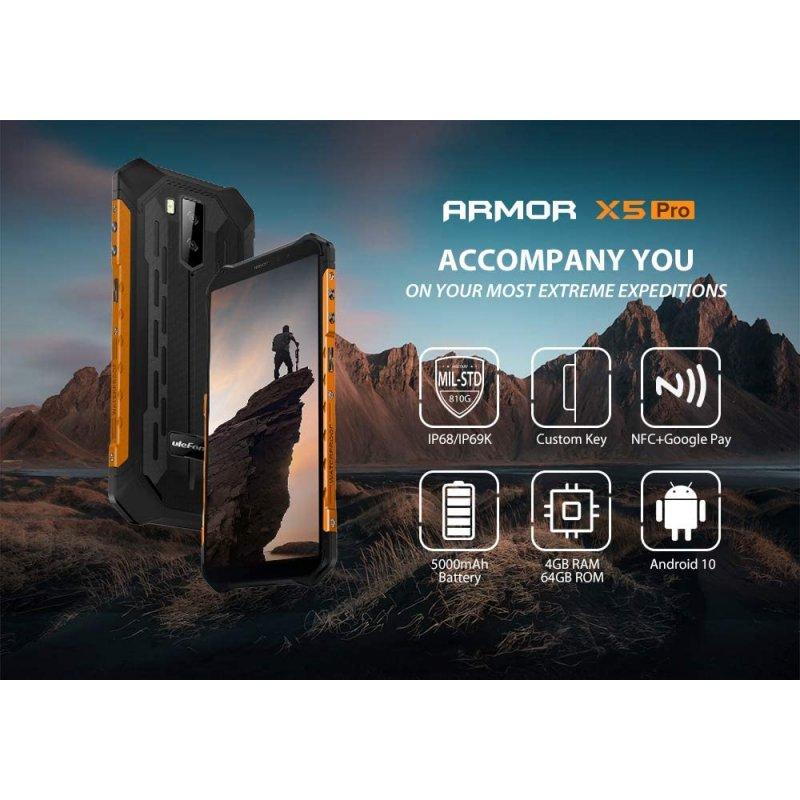 Ulefone Armor X5 Pro 4GB 64GB Rojo Libre