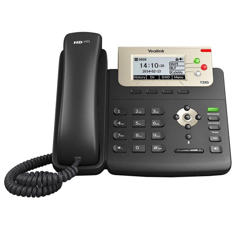 Teléfono VoIP de 3 Líneas Yealink SIP-T23G Negro