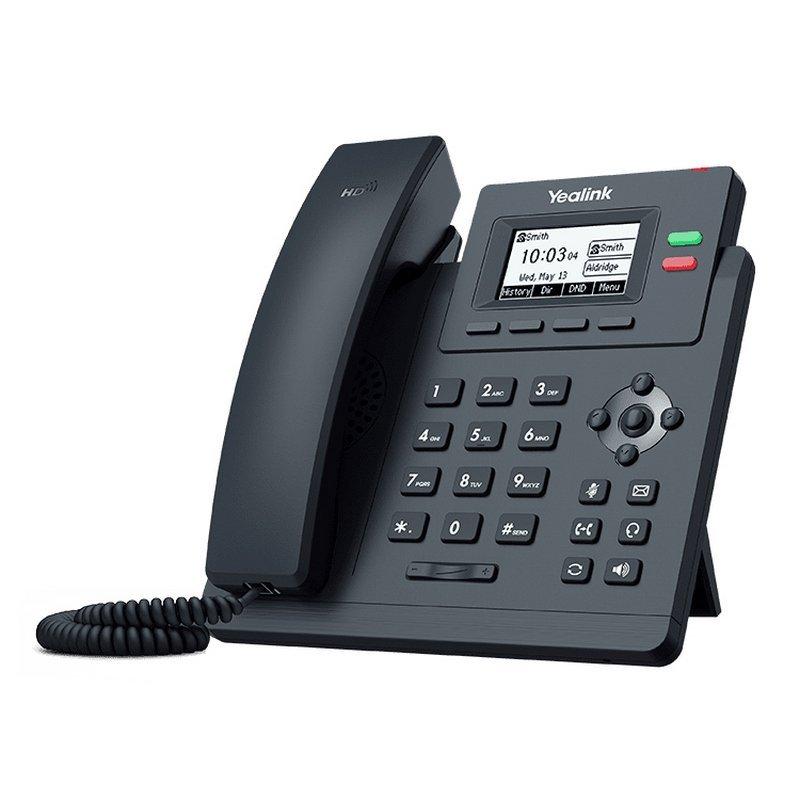 Teléfono VoIP de 2 Líneas Yealink SIP-T31G POE Negro