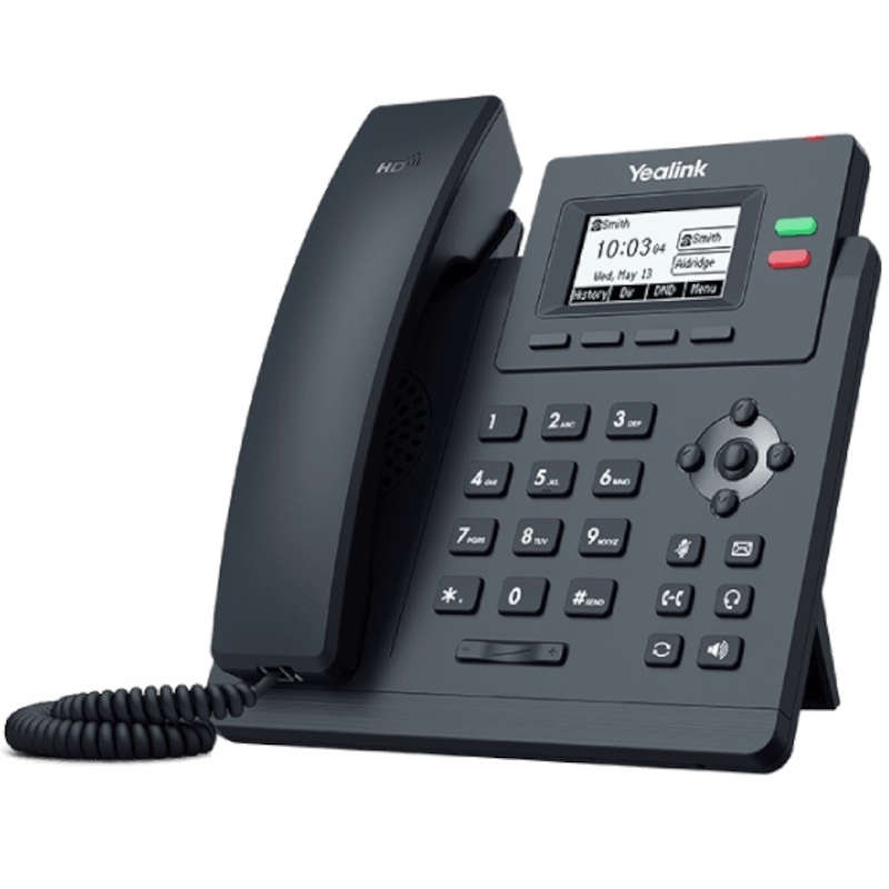 Teléfono VoIP Yealink SIP-T31P POE Negro