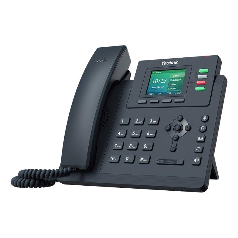 Teléfono VoIP de 4 Líneas Yealink SIP-T33P POE Negro