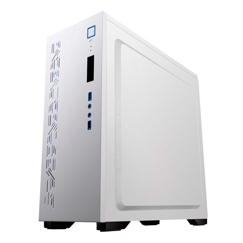 Caja Semitorre ATX Unyka Gaming Armor White con Ventana