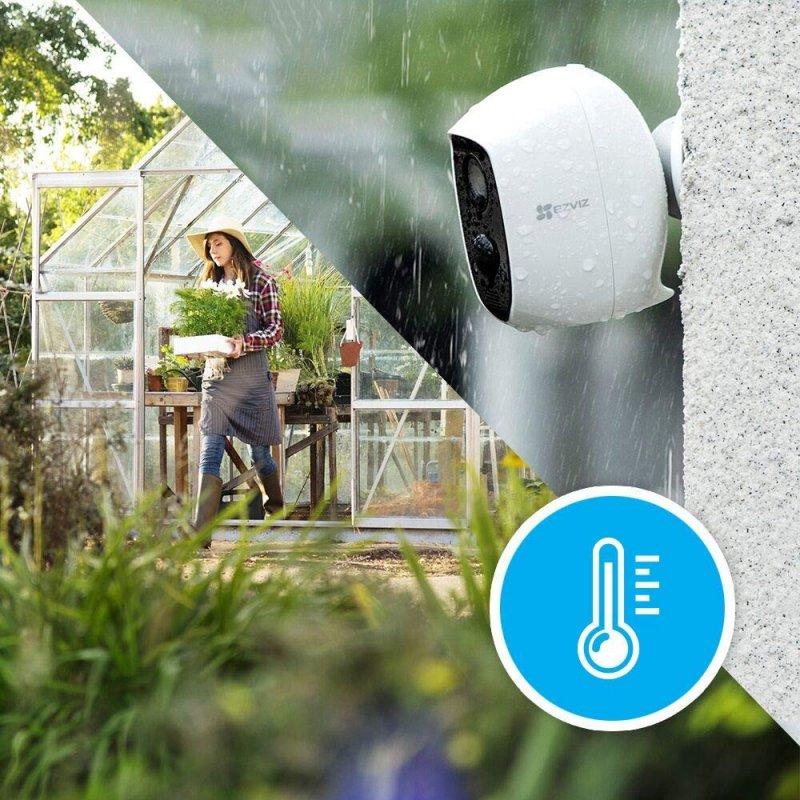 Kit 2 Cámaras de Seguridad IP EZVIZ C3A Duo Blanco