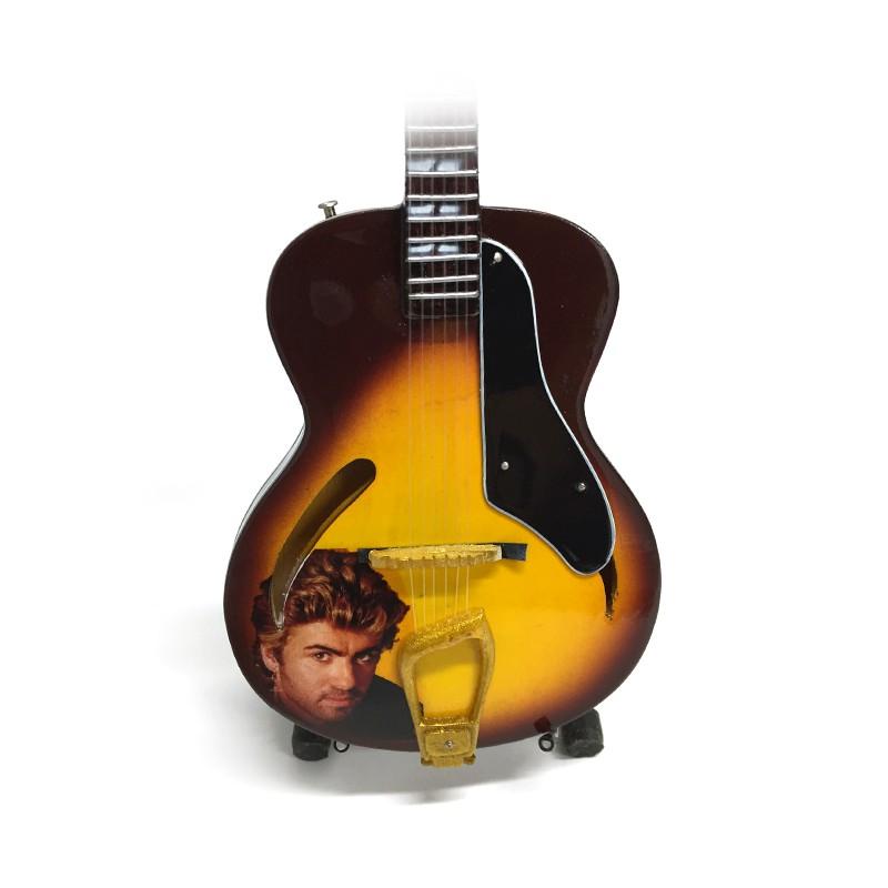 Mini guitarra de colección tributo george michael