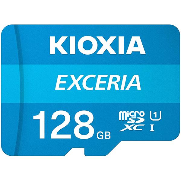 Tarjeta MicroSDXC 128GB Clase 10 UHS-I Kioxia Exceria c/Adaptador