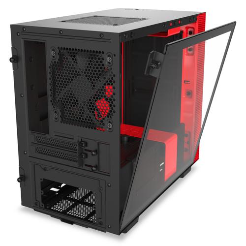 Caja PC Mini ITX NZXT H210 Negro-Rojo Mate