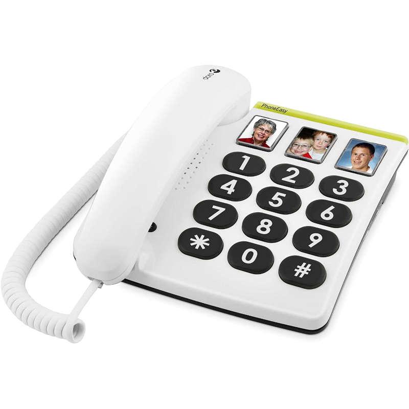 Teléfono Fijo Doro PhoneEasy 331PH Blanco