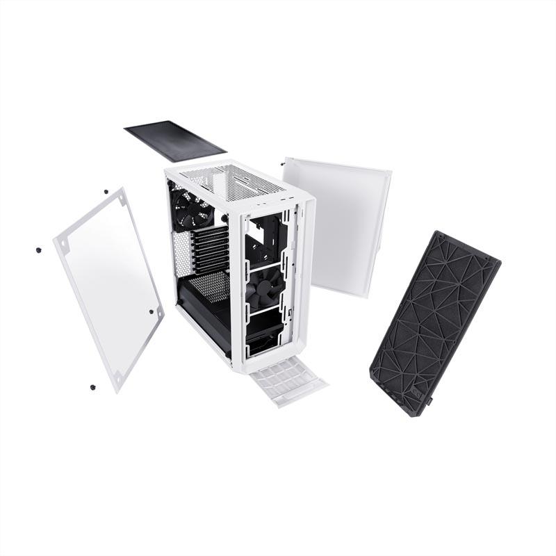 Caja PC Fractal Design Meshify C – TG Blanco