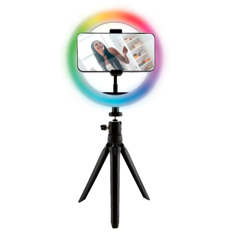 Aro de Luz RGB con Tripode Ksix BXYOUTUB01C
