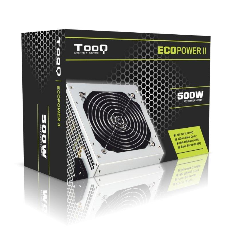 Fuente de Alimentación Tooq Ecopower II 500W PFC Pasivo
