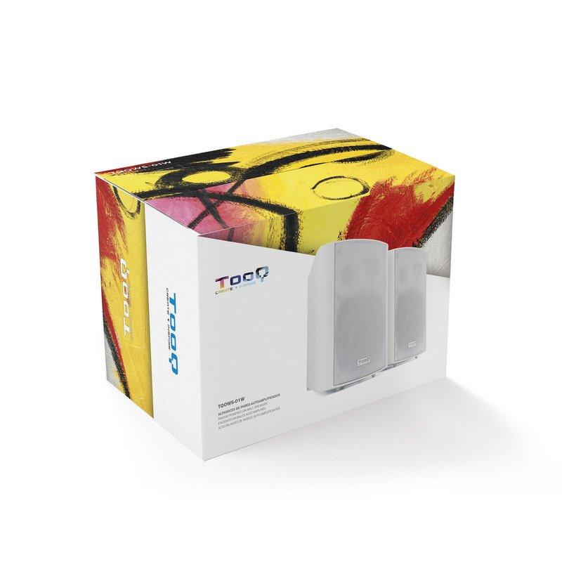 Pack 2 Altavoces Autoamplificados de Pared Tooq TQOWS-01W Blanco