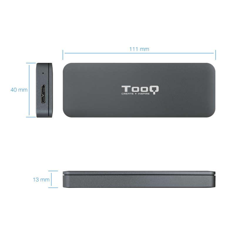 Caja Externa para SSD M.2 NGFF TooQ TQE-2281G Plata