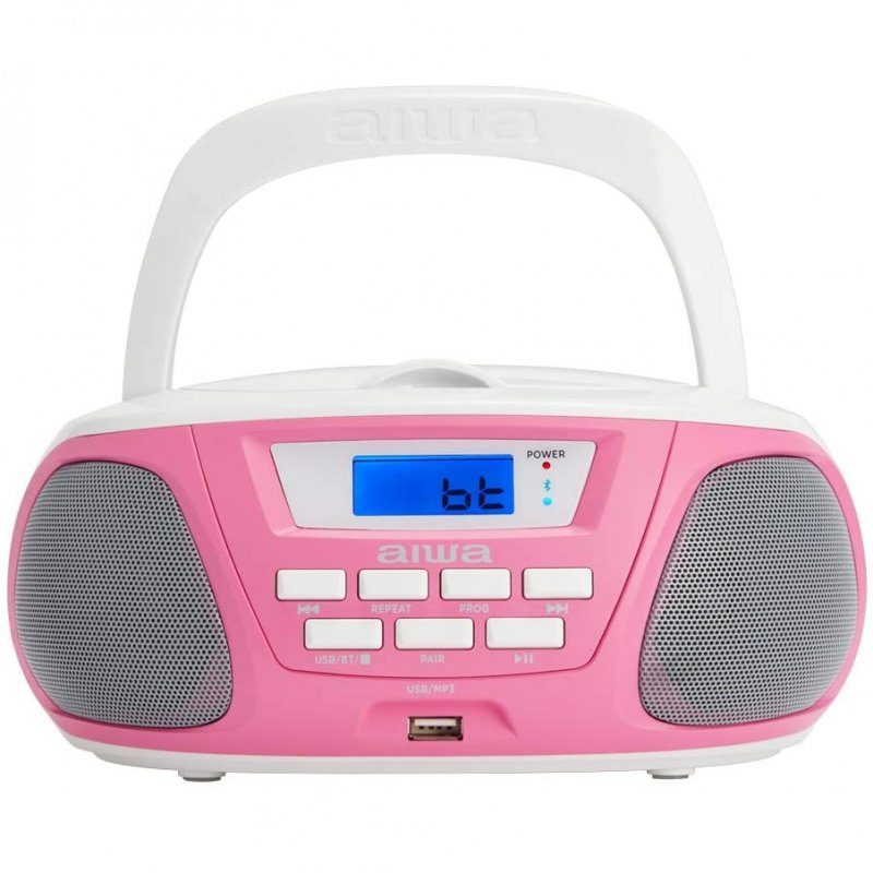 Radio CD Infantil Aiwa BoomBox BBTU-300 Rosa