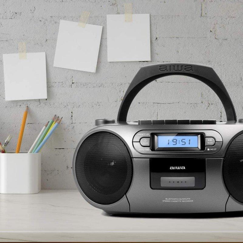 Radio CD Aiwa BoomBox BBTC-550MG Gris
