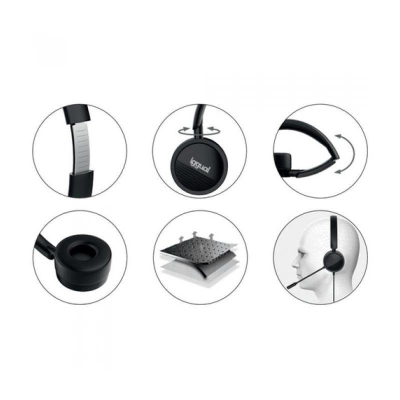 Auriculares con micro Iggual Dual Tech USB/3,5 mm