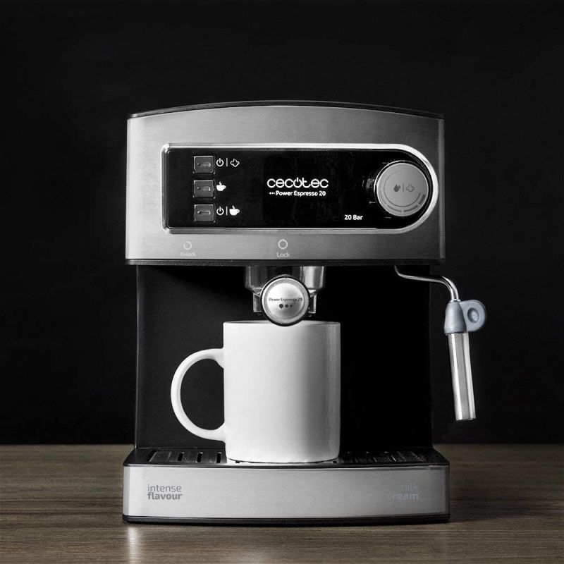 Cafetera Expreso Cecotec Power Espresso 20/ 850W/ 20 Bares