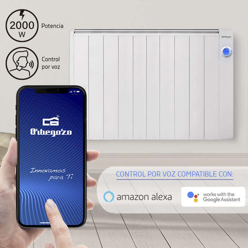 Emisor Térmico Wifi Orbegozo RRW-2000 Compatible con Alexa y Google Assistant