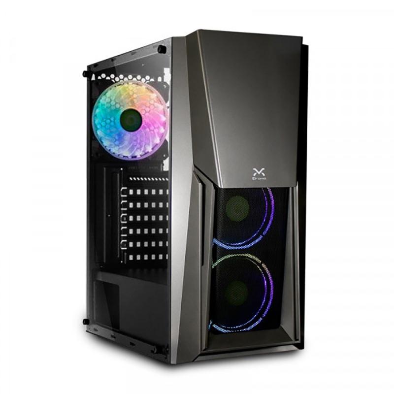 Caja PC Droxio Burner Lateral Metacrilato ATX Gris