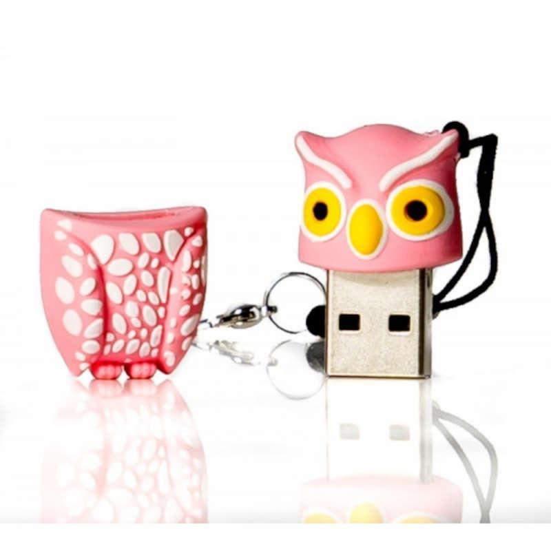 Pendrive 32GB tech1tech Buho Plumi Pink