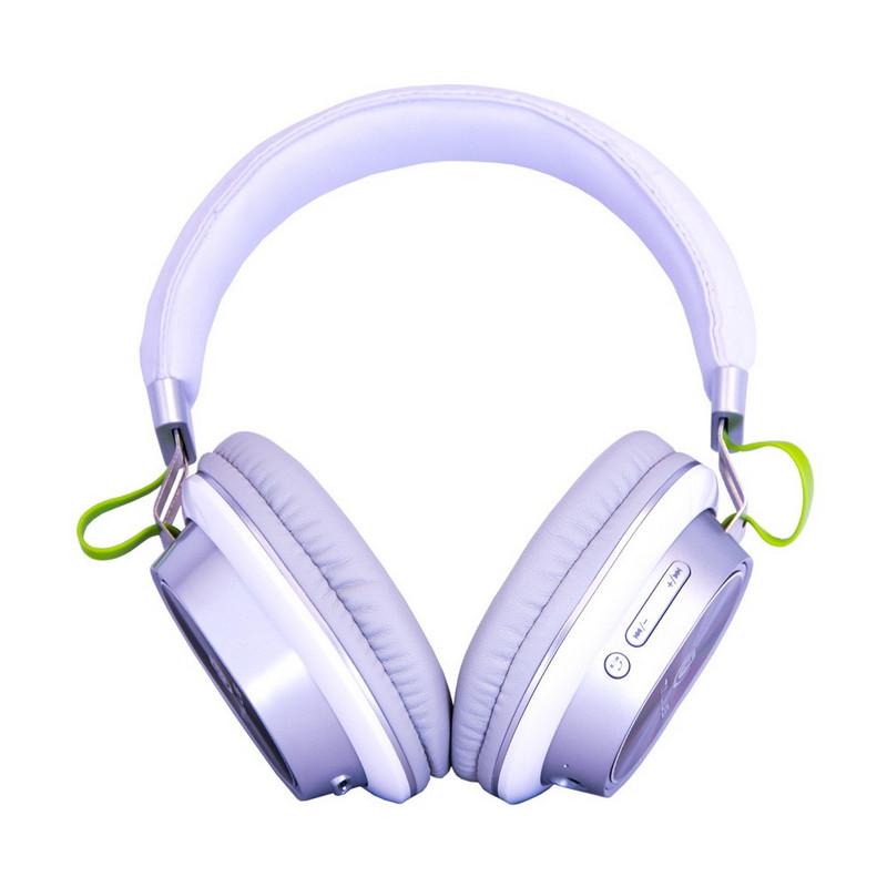 Auriculares Talius HPH-5004BT Bluetooth RGB Blanco