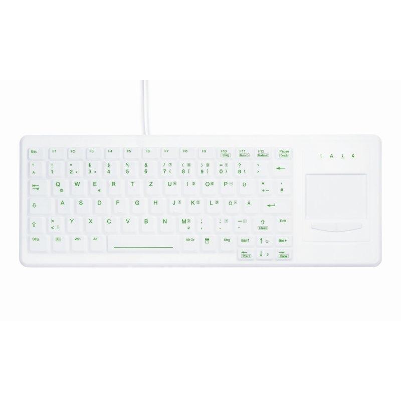 Teclado Lavable Desinfectable con Touchpad y Retroiluminado Active Key AK-CB4400