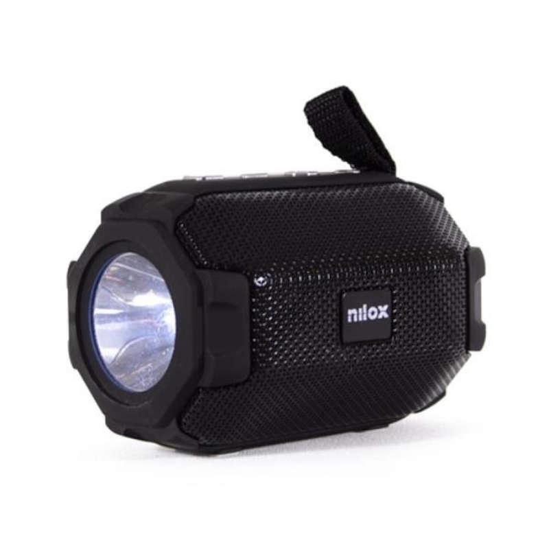Altavoz Nilox NXALBT002 con Linterna Negro