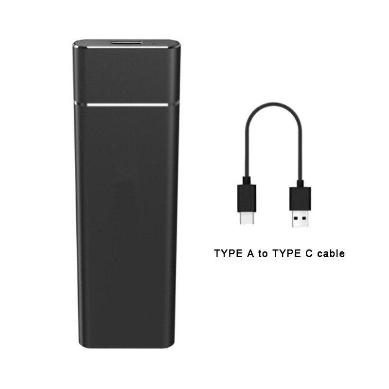 Carcasa Disco SSD M.2 SATA a USB-C 3.1 CoolBox miniChase S31 Negro
