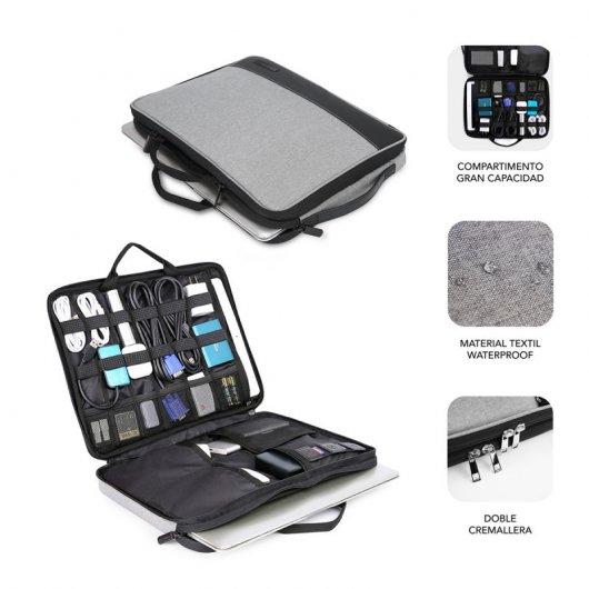Maletín Subblim Advance Laptop Sleeve para Portátiles hasta 14/ Gris