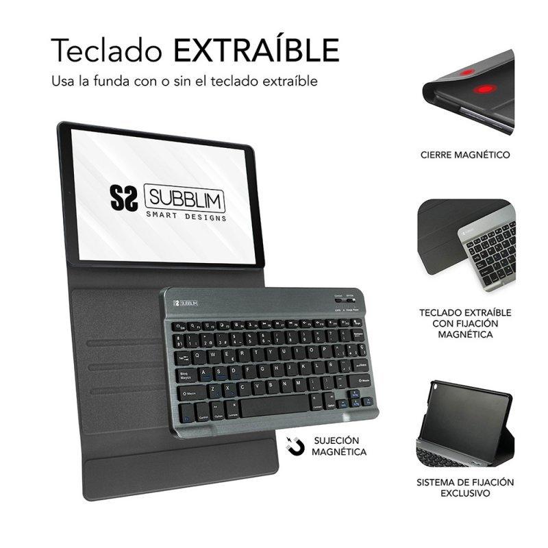 Funda + Teclado Subblim KeyTab Pro para Samsung Galaxy Tab A7 T500/505 10.4\