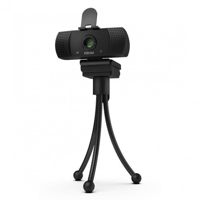 Webcam Full HD Krom Kam Negro